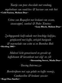 Coffee Jam menu